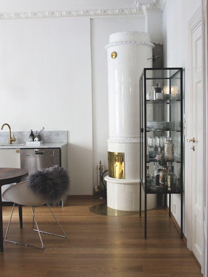 Custom made display cupboard in the kitchen