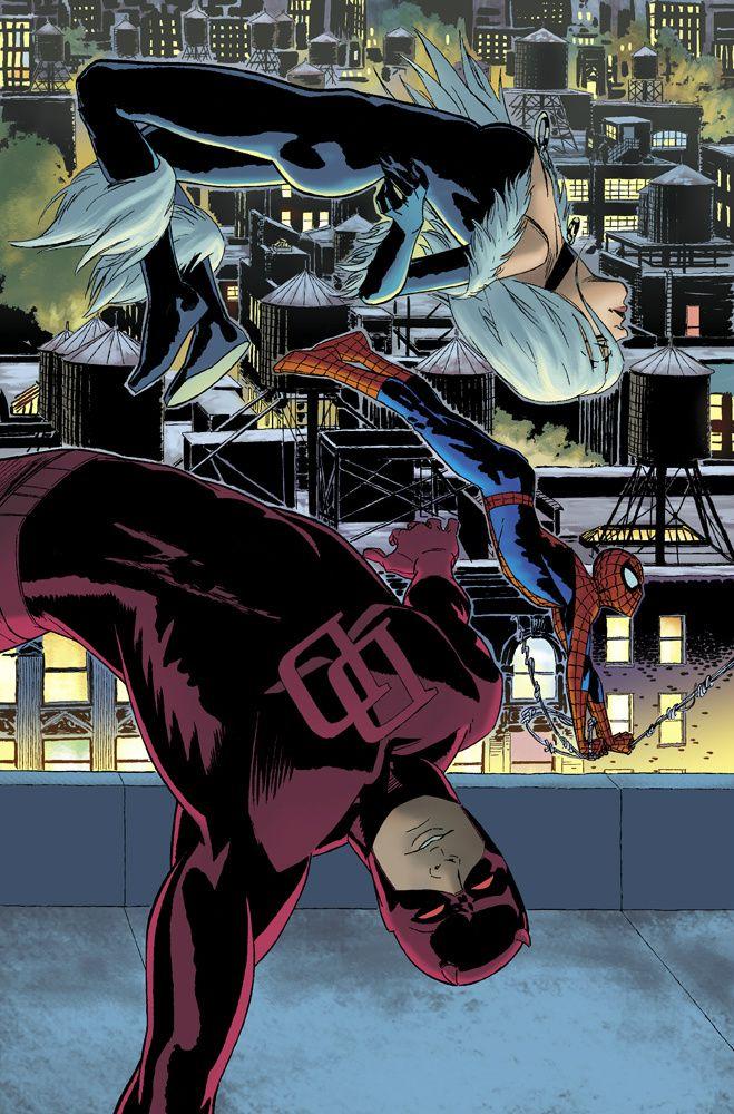 Daredevil, Black Cat and Spiderman by Javier Pulido