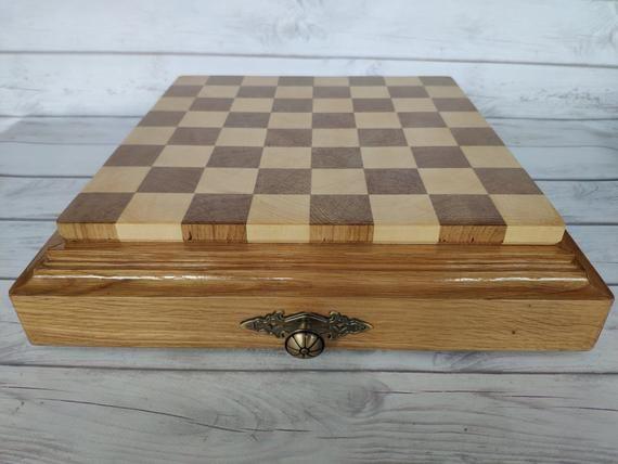 Chess Board Wooden Chess Board Chessboard Chess Box Etsy Wooden Chess Board Wooden Chess Chess Board