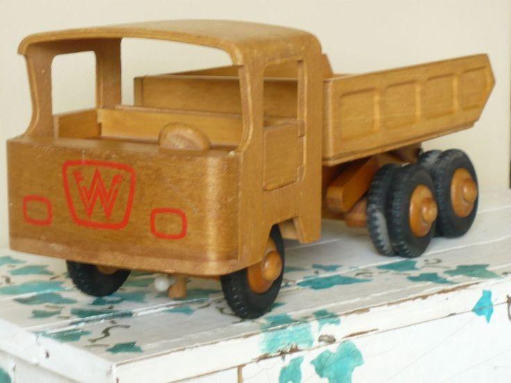 Vintage Wood Toy FWF Friedrich Frobel Werdau Dump Truck GDR East Germany  #FWFFriedrichFrobelWerdau