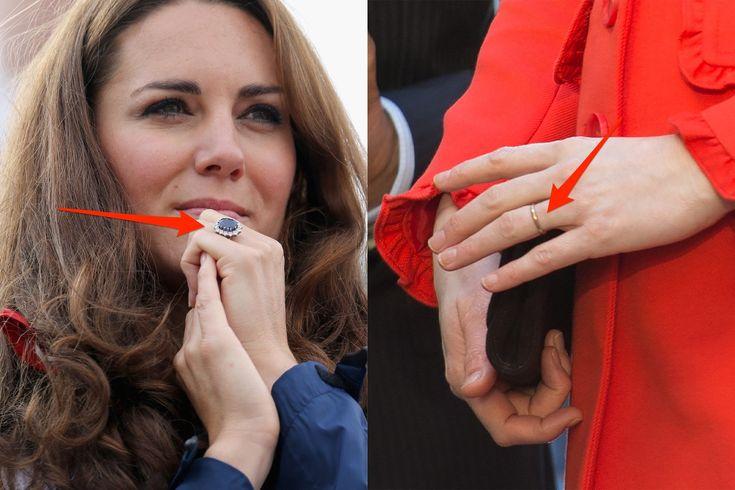 Kate Middleton engagement ring wedding band 1/17/18