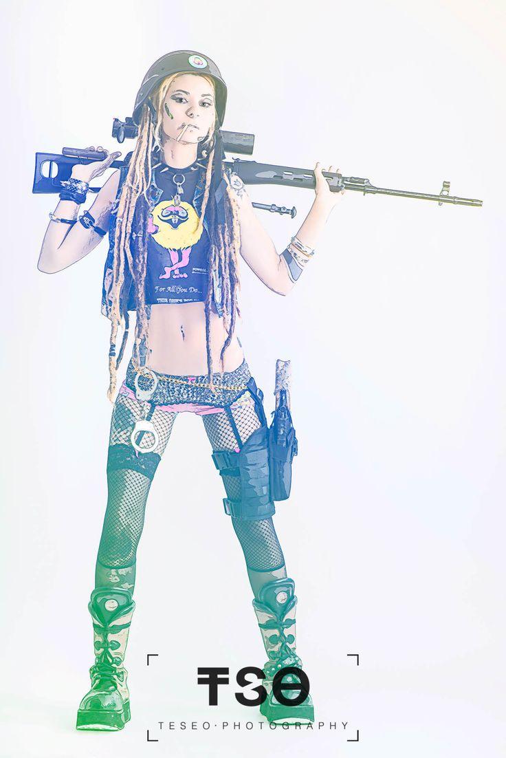 "Sesión ""Diesel Punk (Tank Girl)"" Models: Laura Yina L'Adri Gp Carla Paucar Stylist: Taller de Nithael Arcangel Dani Pelos"