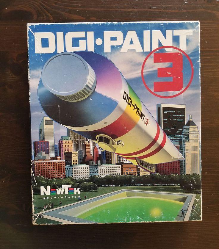 Commodore Amiga NewTek DIGIPAINT 3 Paint Program w/ BOX MANUAL TRANSFER 24