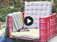 Cómo convertir un cajón de frutas en un asiento