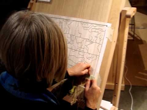 Tapestry weaving with Line Dufour .MPG - YouTube