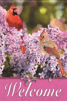 Lilac & Cardinal Garden Flag FlagTrends CLASSIC FLAGS by Carson
