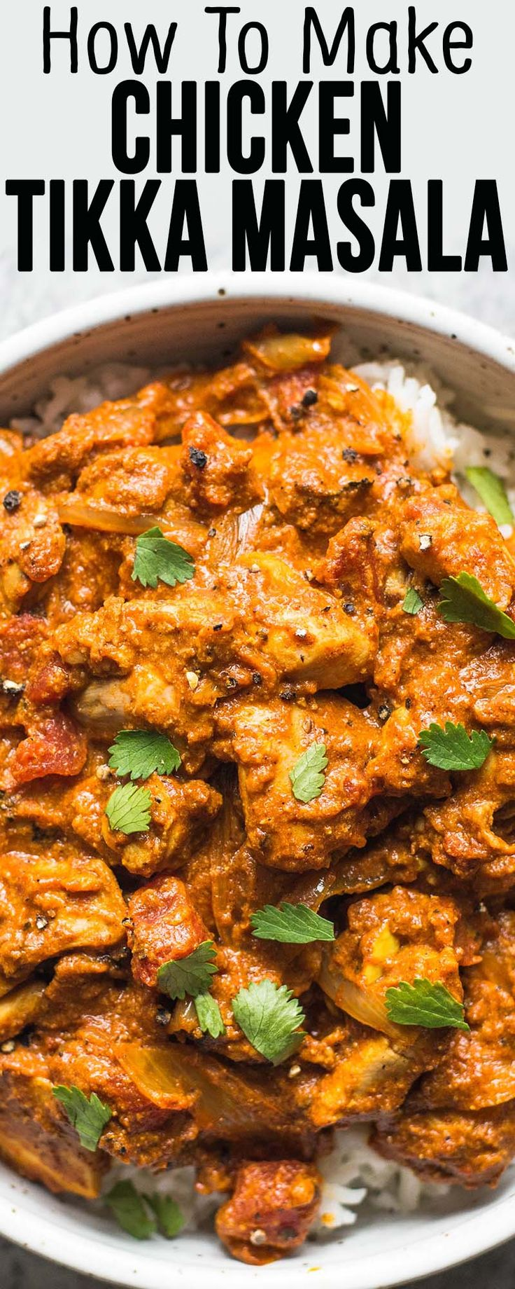 Chicken Tikka Masala! Very EASY to make on the stovetop. Just like take-out! Ready in 30 minutes, plus marinating time.