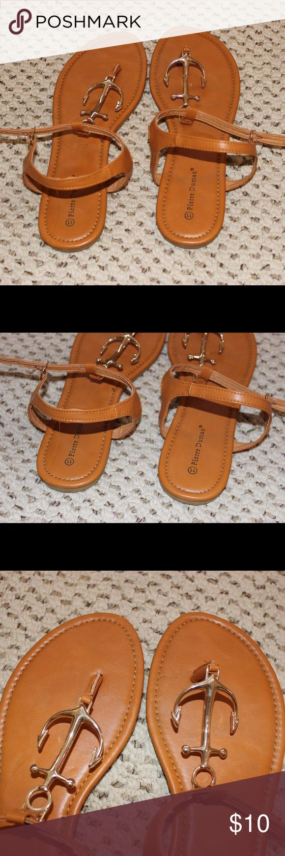 Pierre Dumas anchor sandals Worn once on fourth of july :) runs a little narrow and true to size 11 Pierre Dumas Shoes Sandals