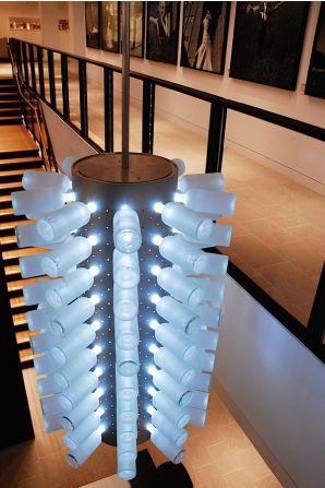 Absolut Spirits: Bottle fixture designed by Hillman Dibernardo Leiter Castelli (HDLC) Architectural Lighting Design
