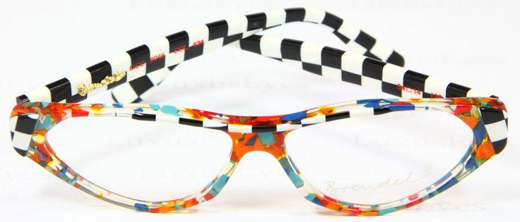 Brendel Original Brille Lunettes Eyeglasses Rare Vintage Multicolor 8045 Kariert |