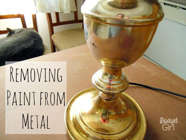 Bad paint job? Need to fix a small mistake? Here are two easy methods of removing paint from metal. Works with acrylic AND spray paint.