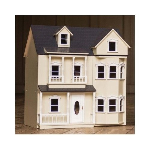 Wooden Doll House 3 Storey Kit Children Miniature Furniture Christmas Gift
