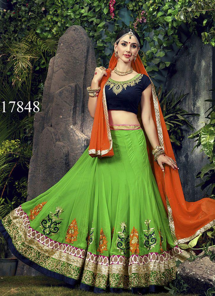 Ethnic Bollywood wear Pakistani Lehenga Traditional Indian Bridal Choli Wedding #KriyaCreation