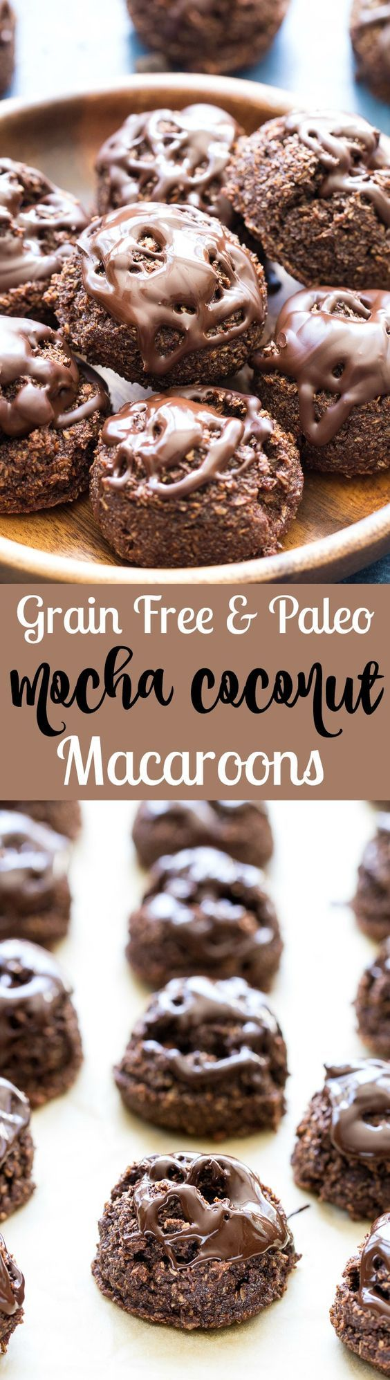 These easy to make Paleo Mocha Coconut Macaroons are a deliciously decadent, yet healthy snack or post-workout treat! Made with wholesome ingredients, grain free, dairy free, and refined sugar free. #allwhiteseggwhites #ad