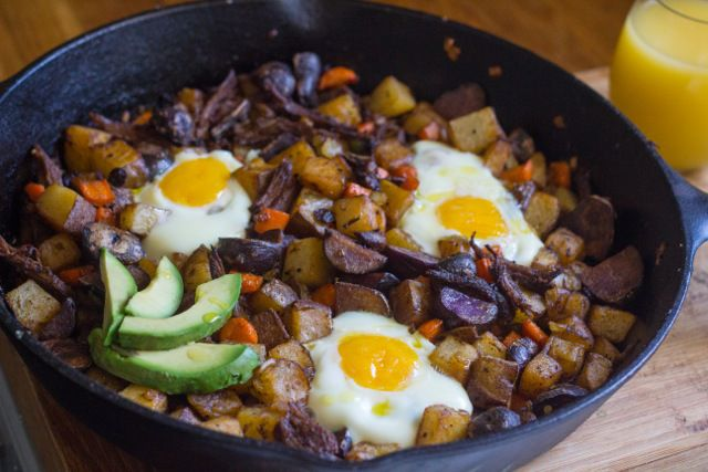 Tzimmes Brisket Hash--What to do with left over brisket