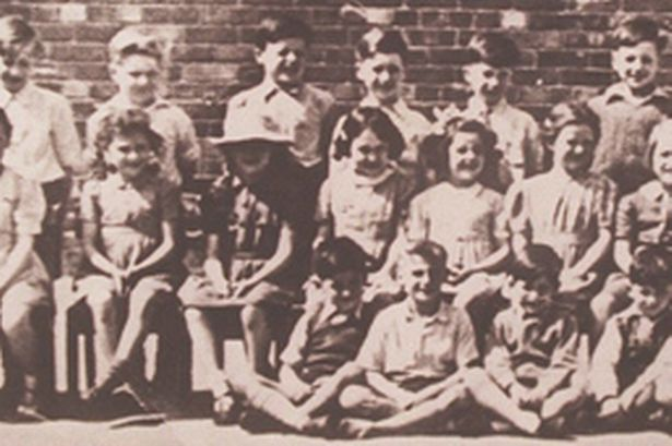 John Lennon at Dovedale Juniors School, Mossley Hill - Jimmy Tarbuck is also in back row
