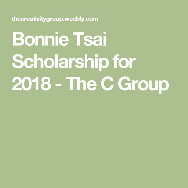 Bonnie Tsai Scholarship for 2018 - The C Group