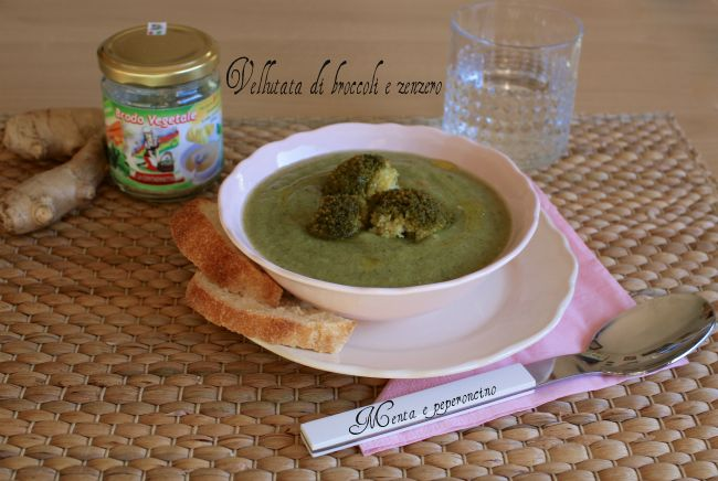 Vellutata di broccoli e zenzero