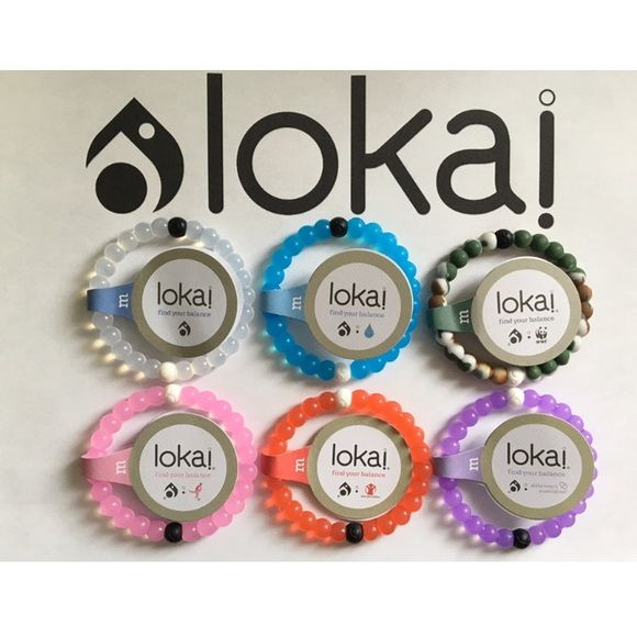 $28 for 4 Lokai Bracelets - Any Color - Any Size This listing is for 4 Lokai Bracelets. Each Lokai is infused with elements from the highest and lowest points on Earth. The bracelet's white bead carries water from Mt. Everest, and its black bead contains mud from the Dead Sea. Package will come with your choice of any 4 Lokai Bracelets. Please leave me a comment with the colors and sizes you need. Lokai Jewelry Bracelets