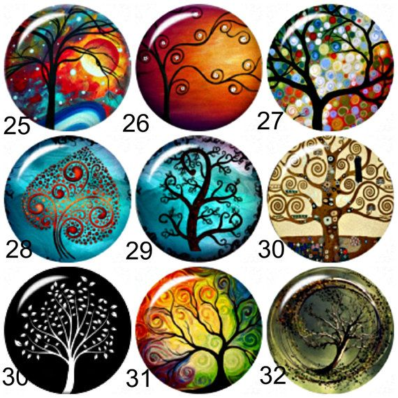 Tree of Life Snap button or Chunk Charms.Fit by BeaditBracelets