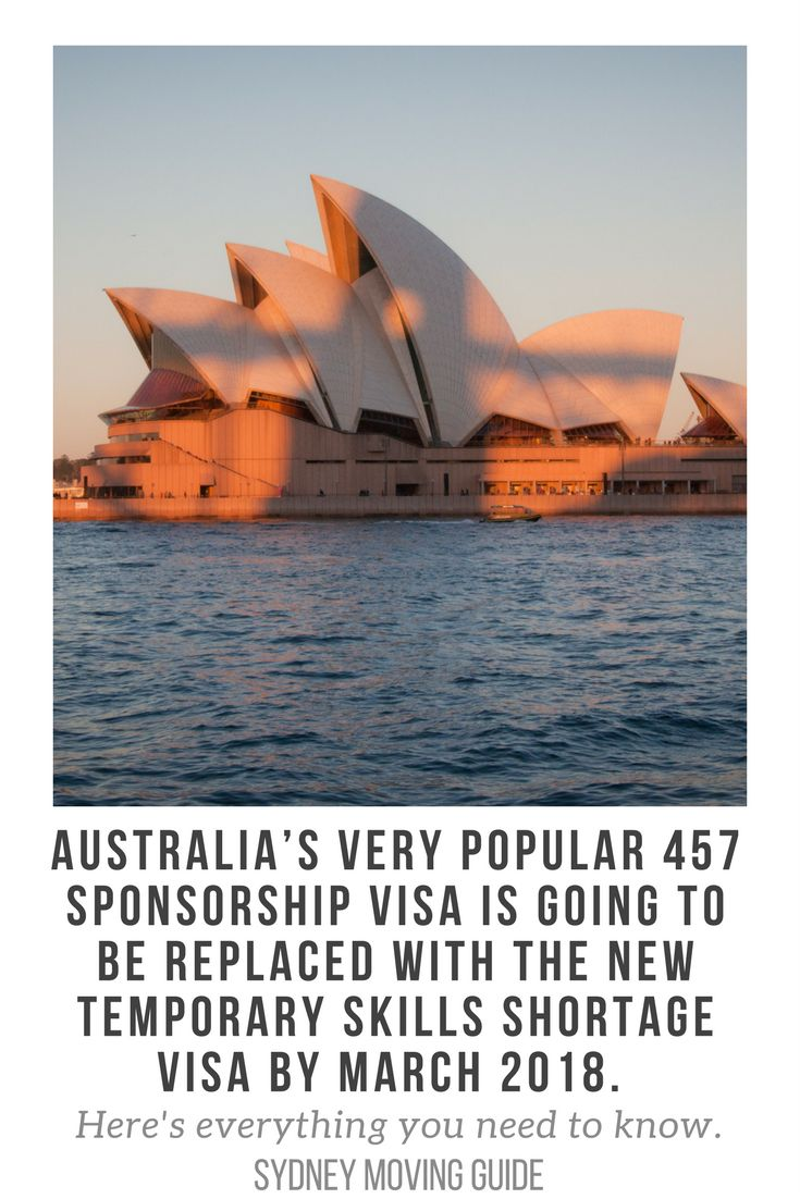Australia's 457 Visa Will Be Completely Removed and Replaced with the Temporary Skills Shortage Visa by March 2018. Here's What You Need to Know about the Replacement of the Temporary Work 457 Visa with the Temporary Skills Shortage Visa.   // expat // expat life // expat advice // move to Australia // via @sydmovingguide