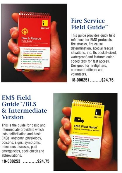 Firesafety and ems field guides from veralph emergencymedical