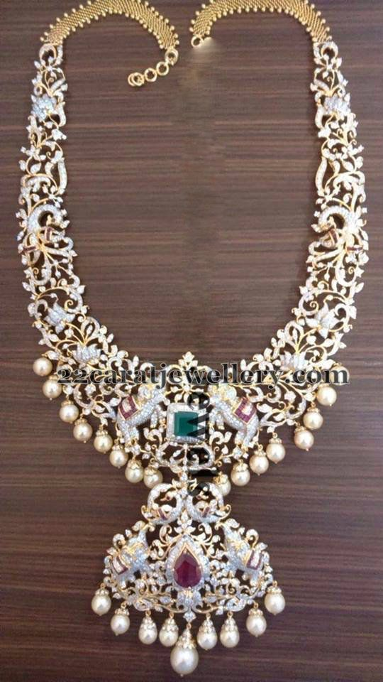 Latest Diamond Set by Vaishnavi Jewels