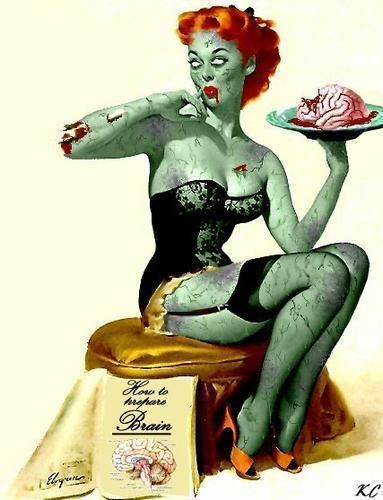 Braaains.: Zombies Apocalyp, Pinup Zombies, Zombie Pin Up, Zombies Pinup, Zombies Pin Up, Art, Pinup Girls, Tattoo, Pin Up Girls