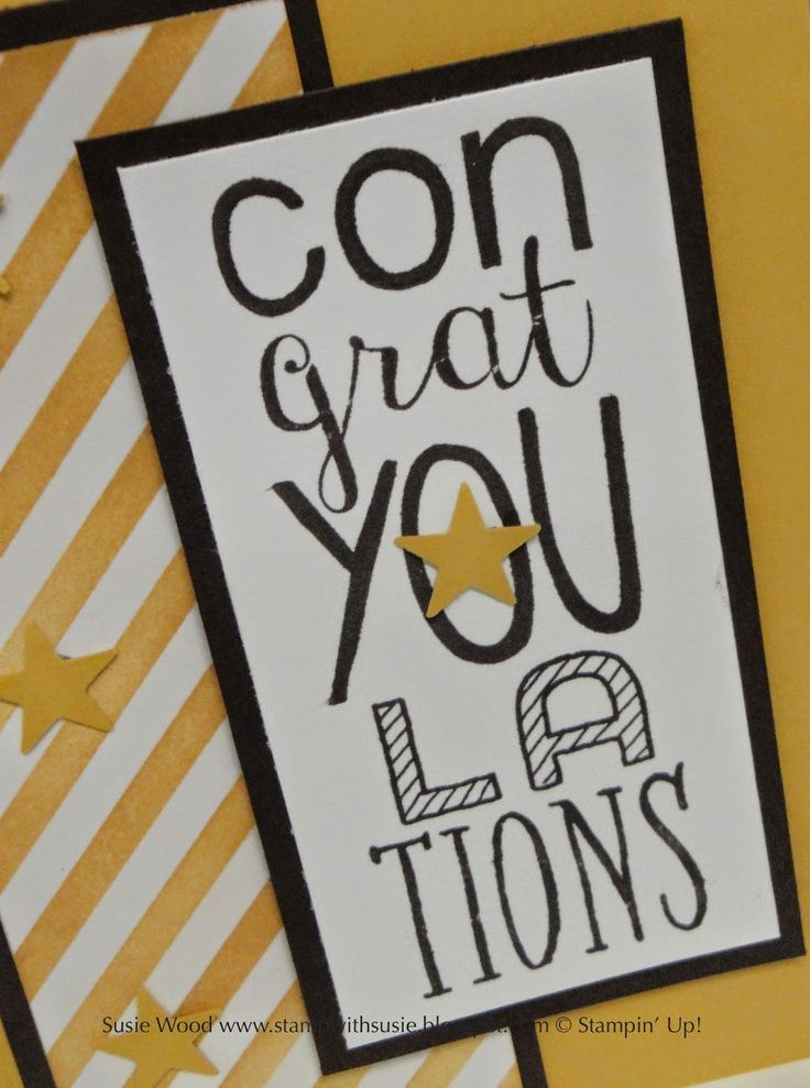 Stampin' Up!-  Love the Irresistibly Yours Designer Paper.  It is perfect for this Congratulations card using the stamp set- 'Bravo'.