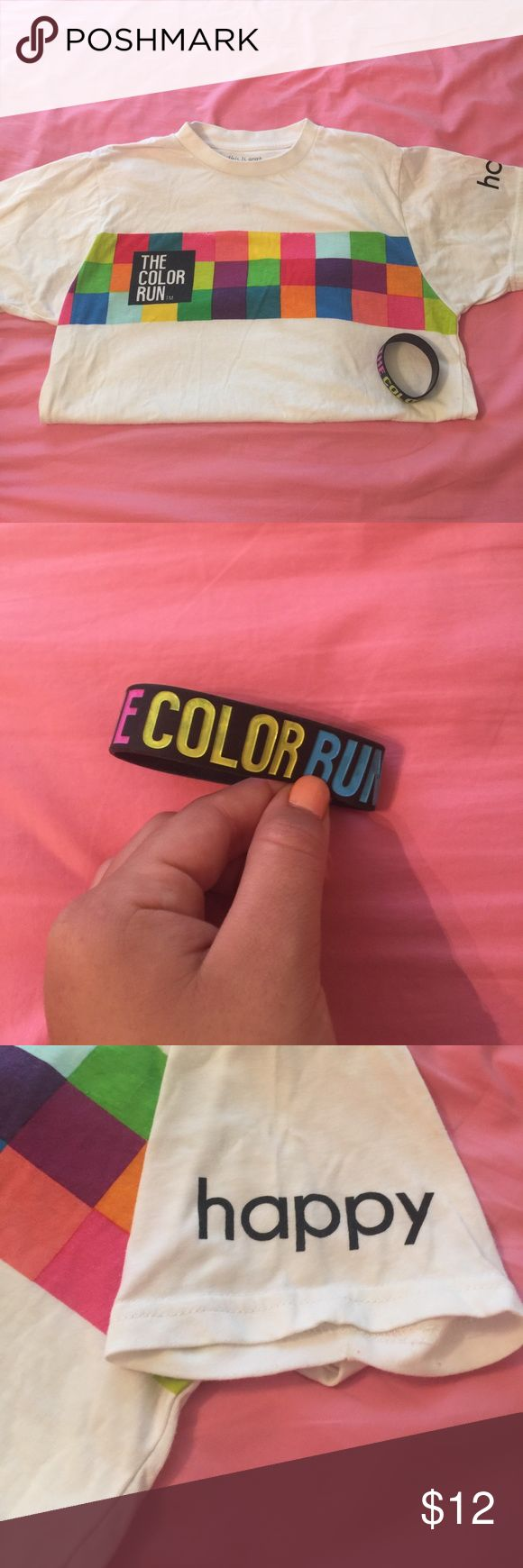 The Color Run Tee and Bracelet The color run 2014 Shirt and bracelet Tops Tees - Short Sleeve