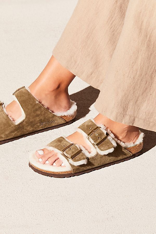 Arizona Shearling Birkenstock Sandals