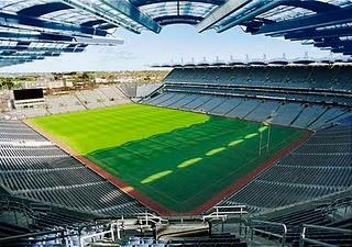 Croke Park Stadium. Ireland.  I would love to watch some Gaelic Football. (: