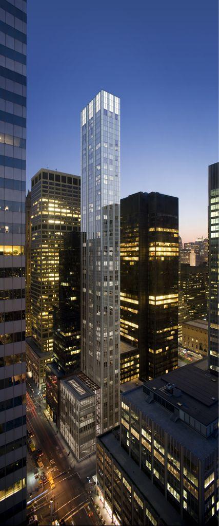 Fosteru0027s Skinny Skyscraper Underway Next To Miesu0027 Seagram Building At 375  Park Ave, New York City, NY.