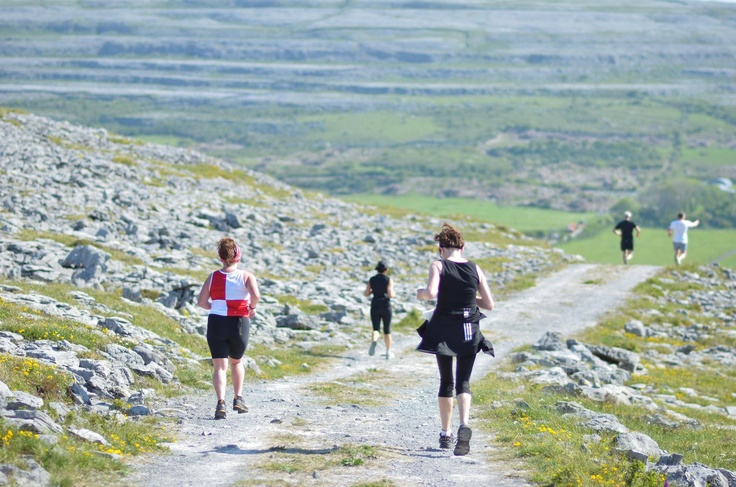 This is a road, green road and trail challenge across the beautiful scenic Burren. Choice of full, half or mini marathon, all taking you on and off road to the finish line on The Pier at Ballyvaughan.