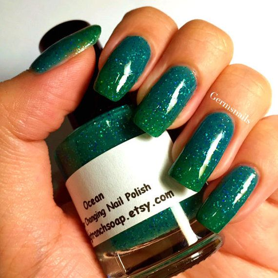 Color Changing Nail Polish  Ocean  Temperature by BigTRanchSoap