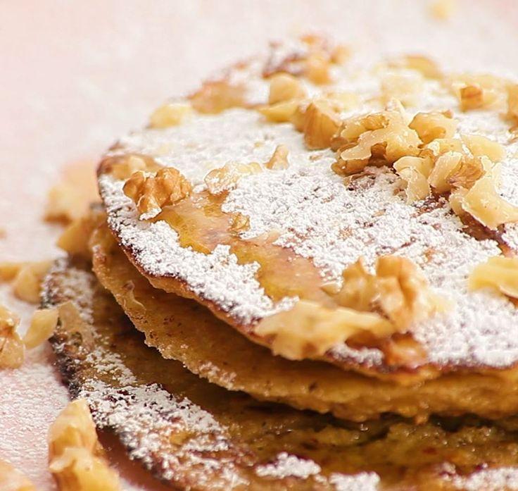 Pancakes la banane et aux flocons d 39 avoine recette cuisine - Recette pancakes herve cuisine ...