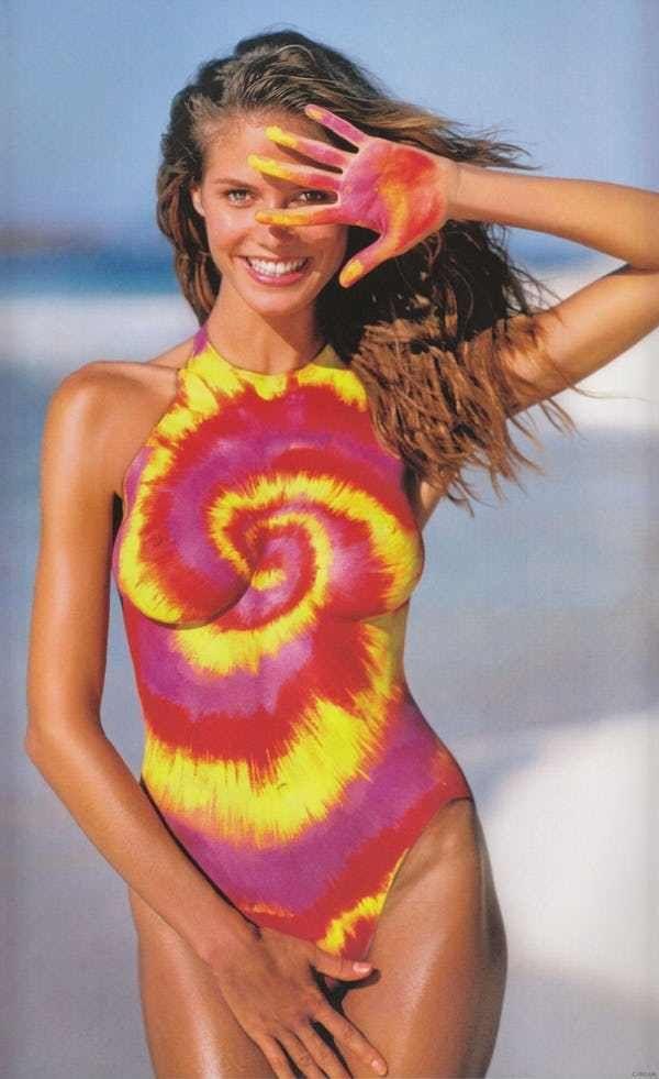 Bodypaint = Greatest Loophole ... is listed (or ranked) 3 on the list The 39 Hottest (SFW) Heidi Klum Nude Pics