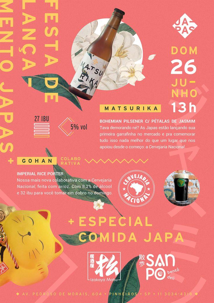 Japas Cervejaria - Design: Yumi Shimada
