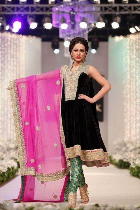 Pakistani dress. bridal couture week
