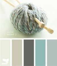 Colors for the main living area/kitchen (swap middle color for a chocolate brown)
