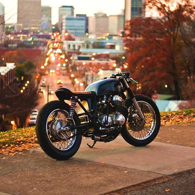 """combustible-contraptions: """" Honda 550 Cafe Brat 