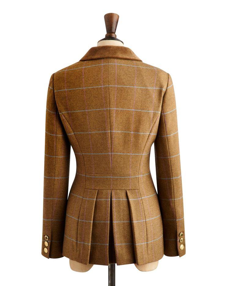 Green Holker Tweed Arabella Womens Hacking Tweed Jacket