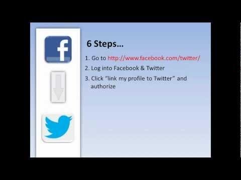 6 simple ways to Automatically Tweet FB Postiings