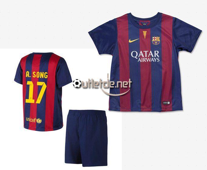 Boutique officiel maillot fc barcelone 14/15 bebe Song Domicile rouge/bleu