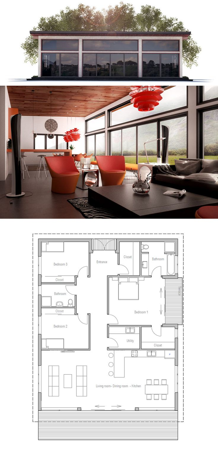 Planta baja 3 dormitorios, salon-cocina