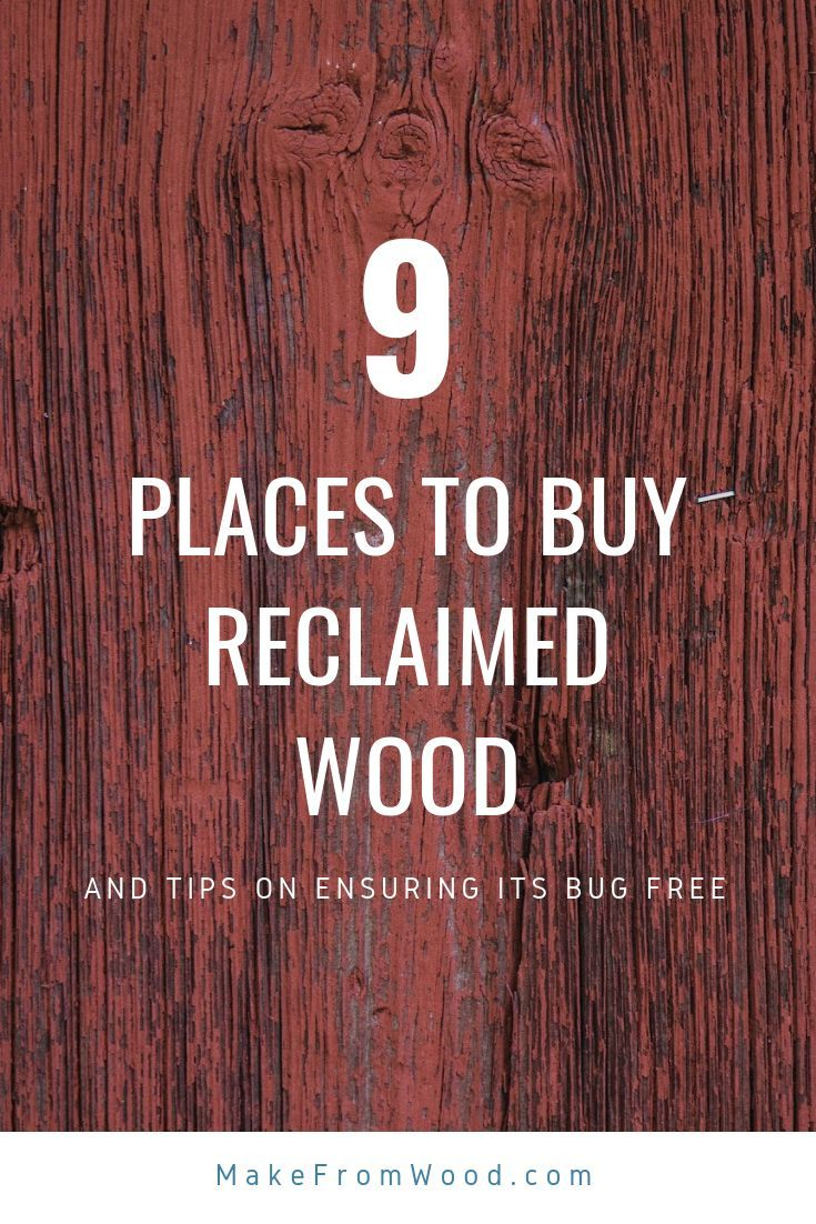 DIY Woodworking Ideas Check out our list of the 9 best places to buy reclaimed wood for your next proj...