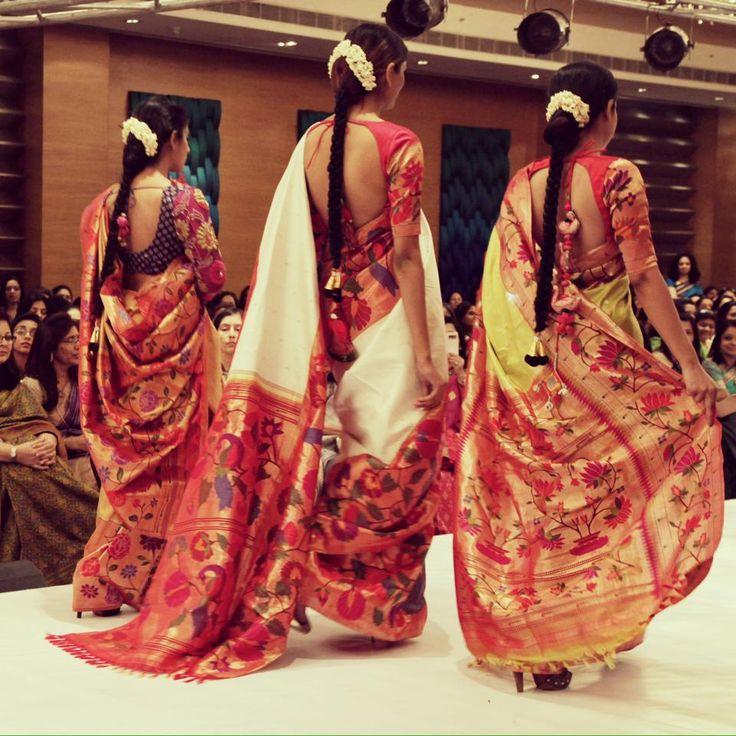 Maharashtrian Paithanis with modern cholis: Gaurang Shah paithani saree collection