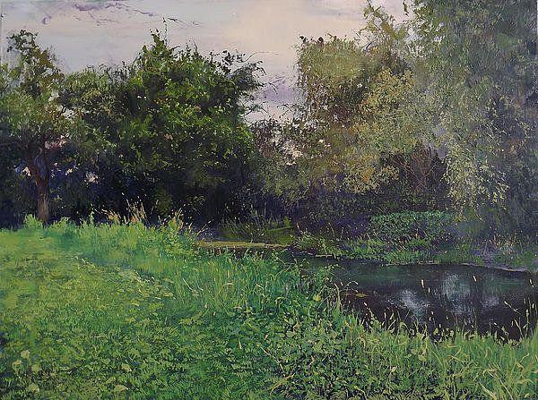 Olhovka River In Lugansk Print By Danil Shurykin
