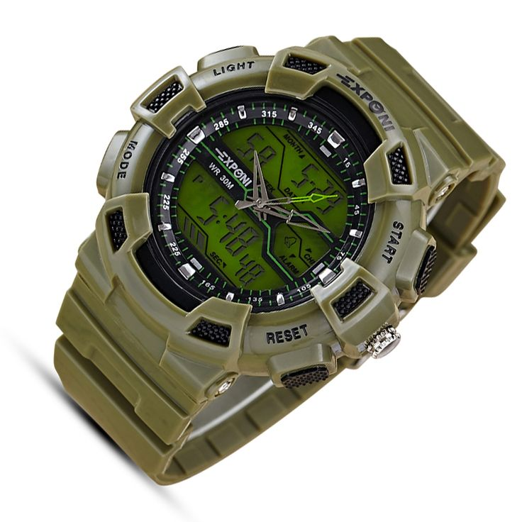 Army sport led military men relojes Automatic Waterproof Watch Men Fashion Watches Quality Clock Wristwatch green diving g-shock