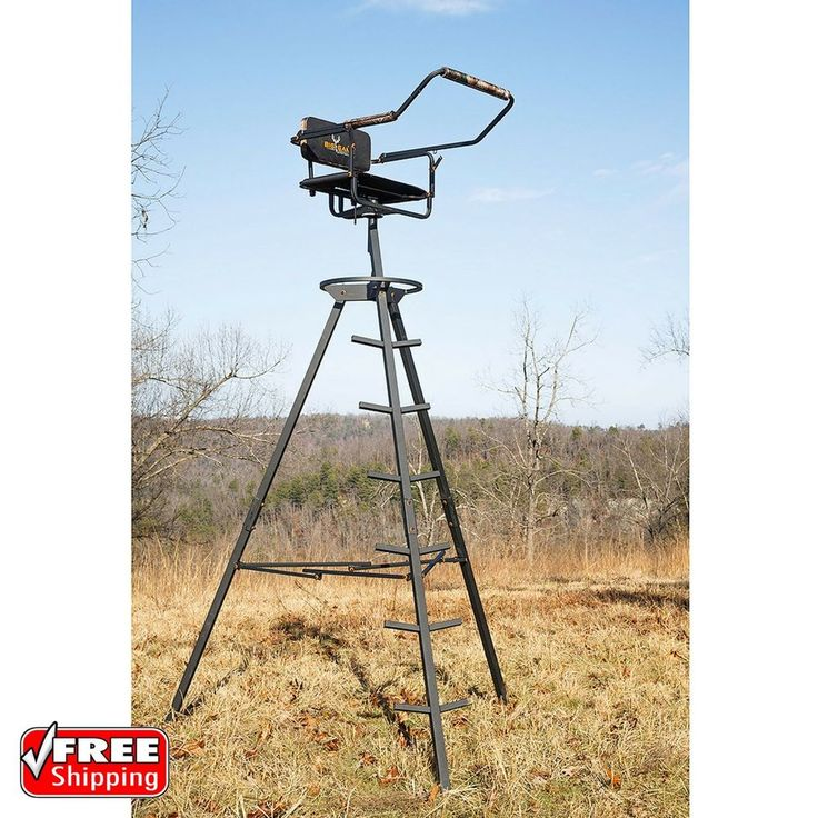 Hunting Tripod Stand 10 Portable Game Deer Rifle Archery Bow Blind   Sporting Goods, Hunting, Blinds & Treestands   eBay!